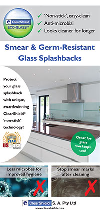 Smear and & Germ Resistant Glass Splashbacks